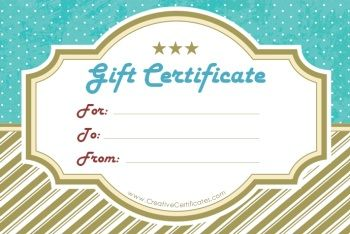 Diy Free Printable And Editable Gift Certificate Templates