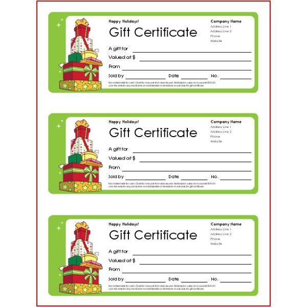 Small business gift certificates-holiday-design