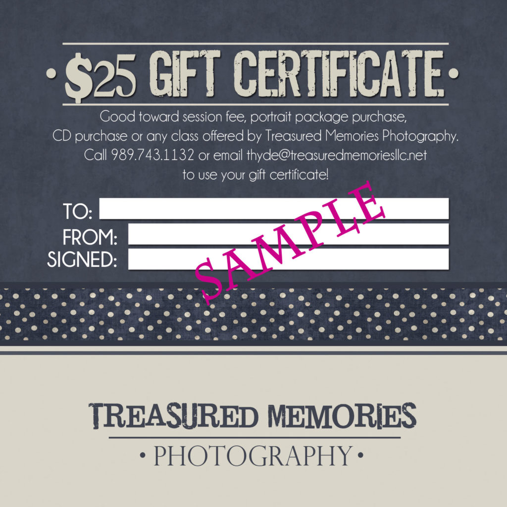 Small business gift certificates-sample-Gift-Certificate-Back