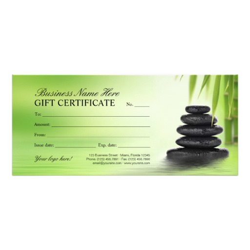 Spa And Massage Salon Gift Certificate Template