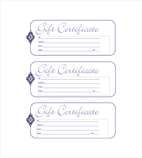 blank-blue-Small business gift certificate-template