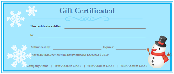 20-charity-gift-certificates/blue-charity-customized-gift-certificate-template