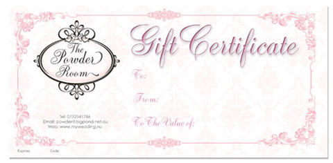 20 bridal gift certificates gift certificate templates bridal gift certificates yelopaper Choice Image