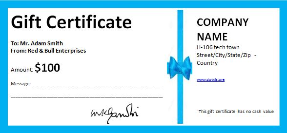 business-gift-certificate blue