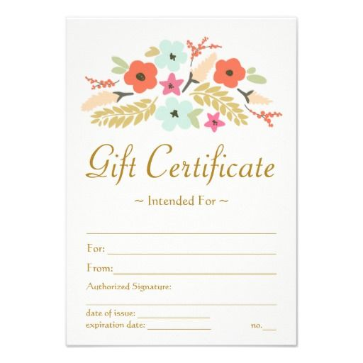 Diy gift certificates templates gift certificate templates for Diy certificates