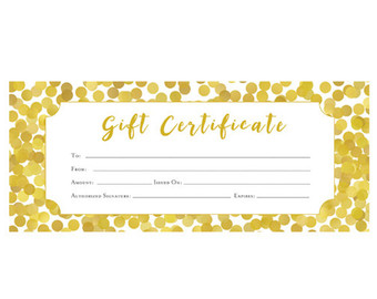 gold-Spa And Massage Salon Gift Certificate Template