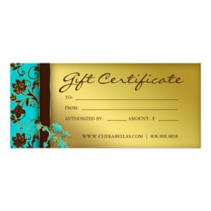 golden small business gift certificate template