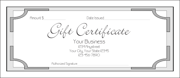 Gift Certificate Designs Templates Gift Certificate Templates