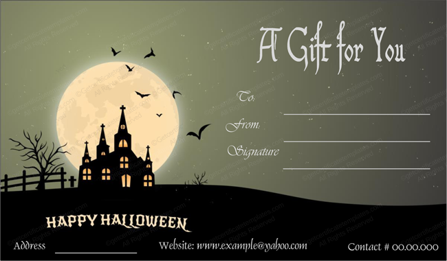 haunted-house-halloween-gift-card-template