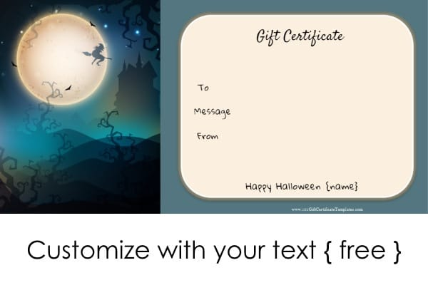 Gift certificate template halloween choice image certificate halloween gift certificate template word image collections halloween gift certificate template word gallery certificate halloween gift yadclub Gallery