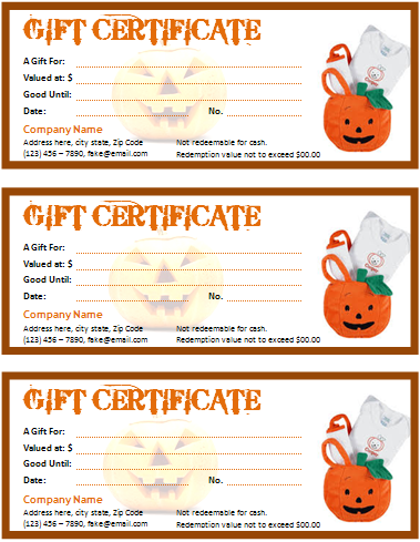 Halloween gift certificate templates gift certificate templates this halloween gift certificate template is designed in ms word 2007 therefore can be managed in proper and convenient way all features that this halloween yelopaper Images