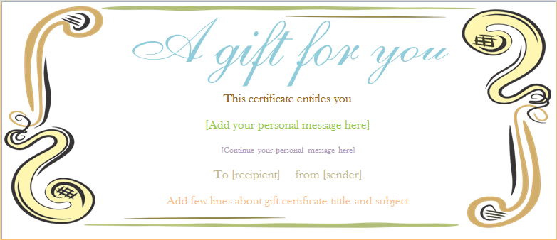 free downloadable gift certificates template yelom myphonecompany co