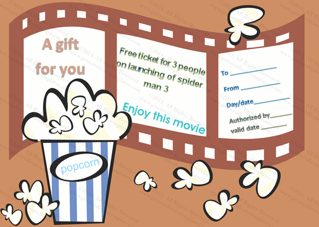 brown-printable-pdf-Movie Gift Certificate Templates