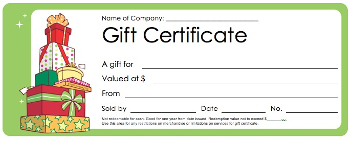 Gift Certificates And Gift Cards Gift Certificate Templates