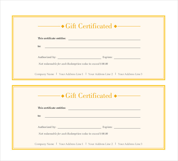 Word Doent Gift Certificate Templates Gift Ideas