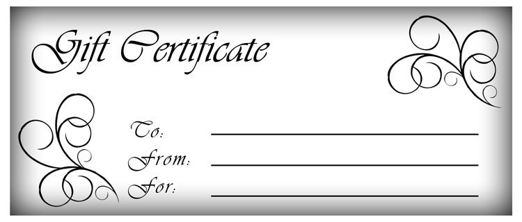 Blank Gift Certificate Templates  Gift Certificate Templates