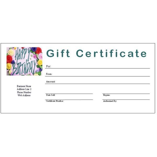 Pdf Free Printable Gift Certificates Gift Certificate Template
