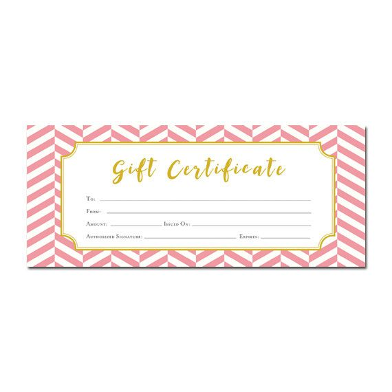 Pink gift certificates gift certificate templates pink blank gift certificate certificate templates yadclub Gallery