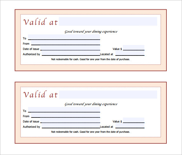 Pink Doc Pdf Printable Gift Certificates Templates