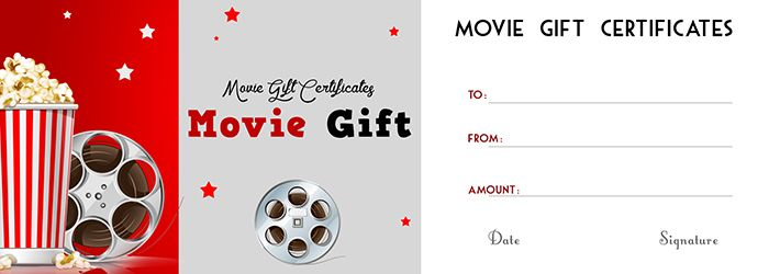 movie gift certificate templates gift certificate templates