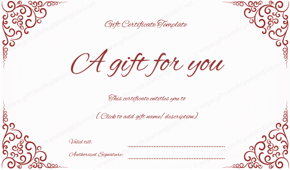 Gift certificates are available in a variety of colors on internet but they may not free. If you want to get a free of cost Red Gift Certificate, ...