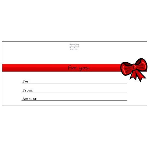 Red Gift Certificates Gift Certificate Templates