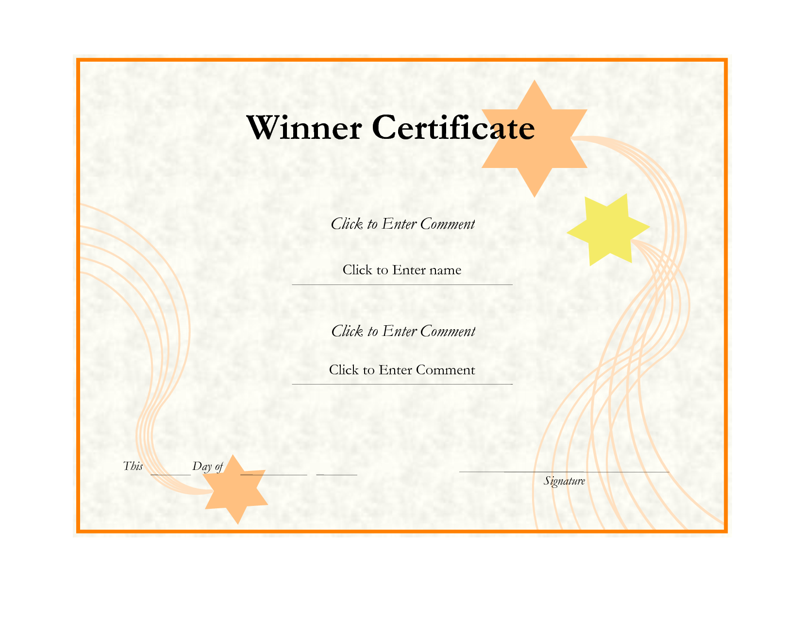 5 Winner Certificates Gift Certificate Templates