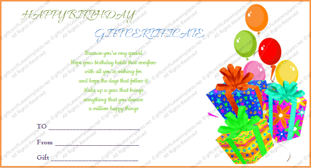 Birthday Gift Certificate Template Pdf Gift Ideas