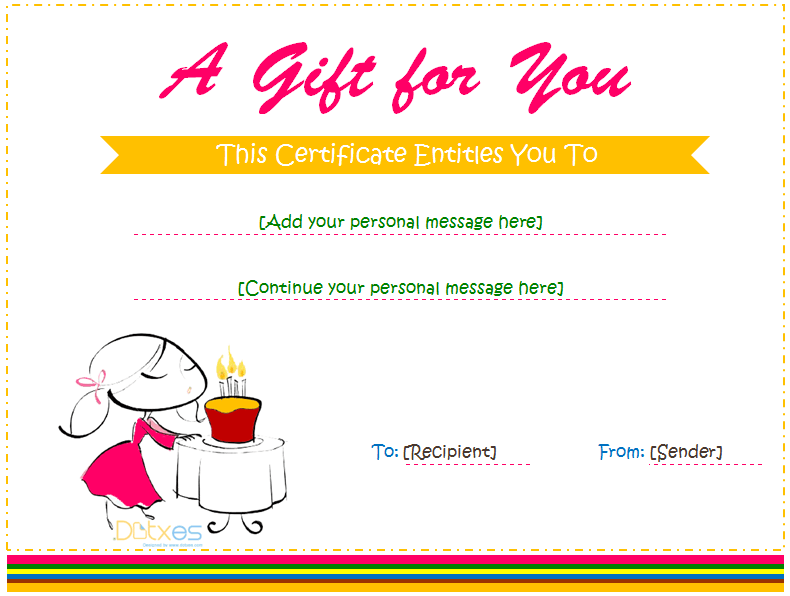 Gift Certificate Template For Girl Template Pdf Docs Docx
