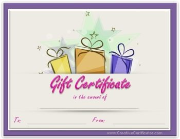 birthday gift certificate templates gift certificate templates