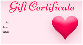 Valentine Gift Certificate Templates Gift Certificate Templates