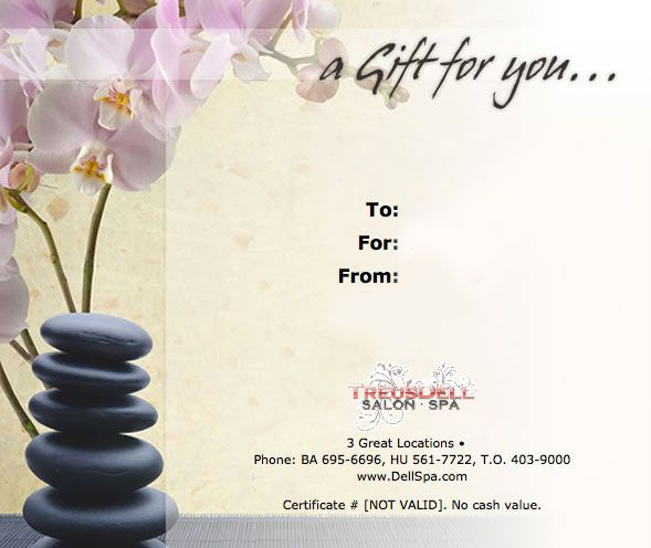 Massage Gift Certificate Templates Gift Certificate Templates