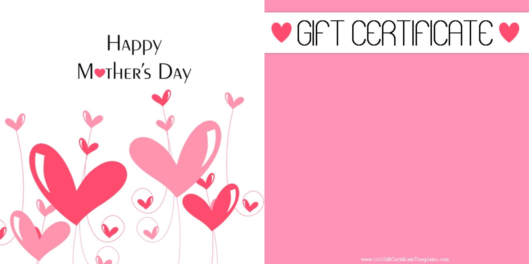 Mother Day Gift Certificates | Gift Certificate Templates