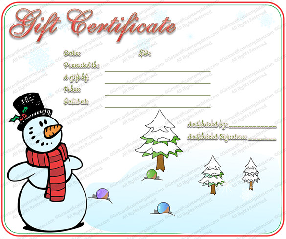 editable-free-snowman-christmas-gift-certificate-template/