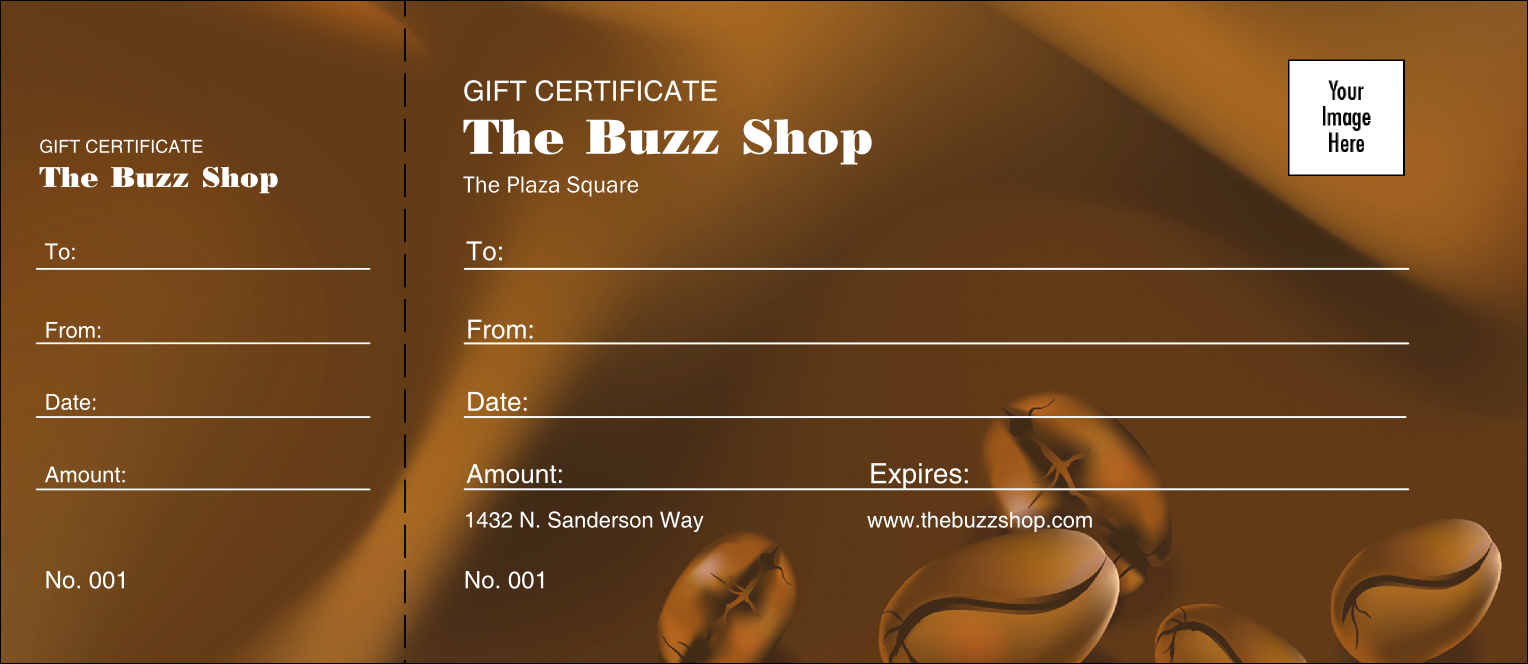 free-editable-Coffee-Gift-Certificate-template-Redesigned-Product front