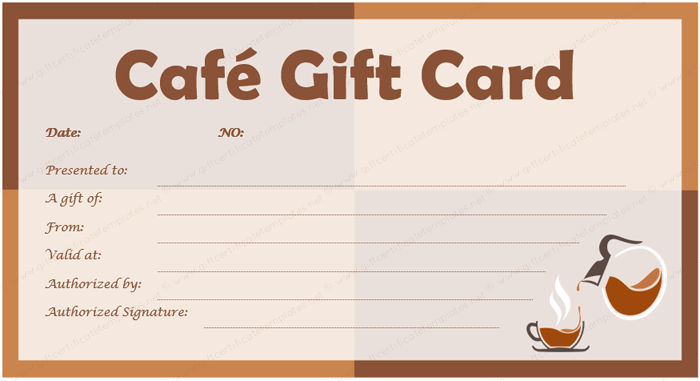 coffee gift certificate templates gift certificate templates