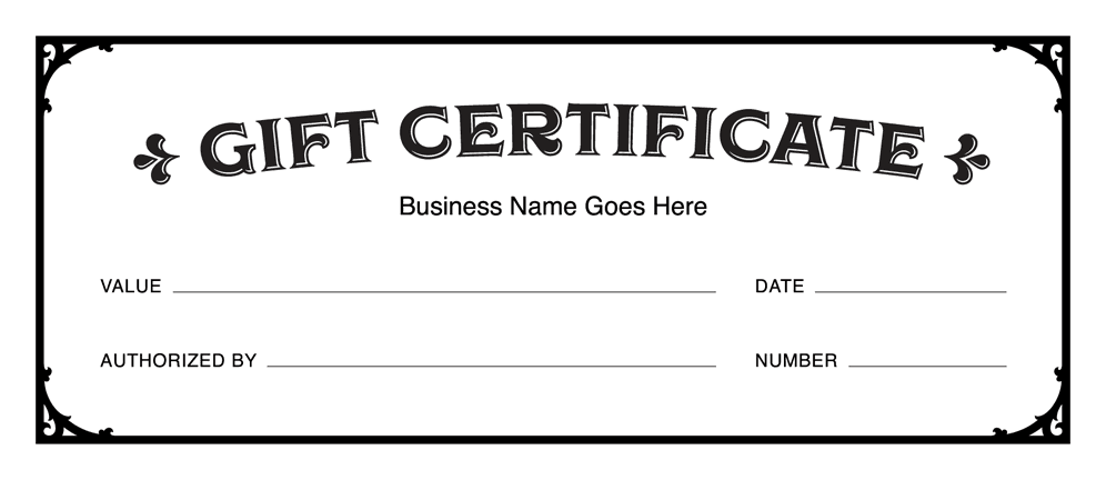 Gift Certificates Template from giftcertificatesdesigns.com