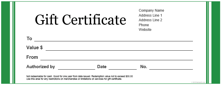 green-large-word-free-gift-holiday-gift-certificate-template