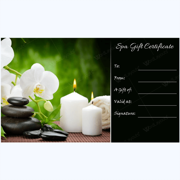 Spa Gift Certificate Templates Gift Certificate Templates
